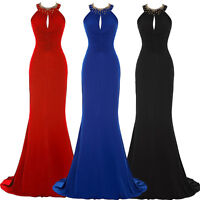 Sexy Womens Long Party Evening Ball Gown Cocktail Prom Bridesmaid Backless Dress