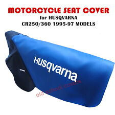 MOTORCYCLE SEAT COVER HUSQVARNA CR250 CR360 1995-97 BLUE SEAT COVER