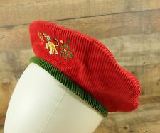 The Lion King Beret Hat Cap Simba Disney Store Corduroy Red Small