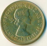 1966 FLORIN TWO SHILLINGS QUEEN ELIZABETH II. UNC WITH TONING  #WT11109