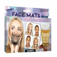 20 Party Face Mats Funny Drinking Masks Drinks/Beer Coaster Novelty Fun Gift