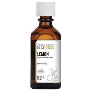 Aura Cacia Pure Essential Oil-Lemon 2 fl oz Bottle.