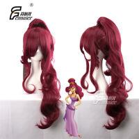 Hercules Megara Wavy 90cm Long Wavy Anime Cosplay Wig Hair +CAP