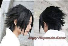 Anime Naruto Uchiha Sasuke Noir court droit Cosplay Costume perruque de cheveux
