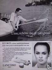 PUBLICITÉ 1978 LANCÔME HYDRIX CRÈME ANTIDÉSHYDRATANTE - ADVERTISING