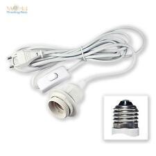 Kabel mit Fassung Lampenfassung + Schalter für E27 3,5m Netzkabel Euro-Stecker