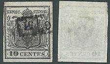 1850 LOMBARDO VENETO USATO STEMMA 10 CENT - A122