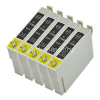 5 Tintenpatronen Druckerpatronen kompatibel zu EPSON T0711 XL BLACK BK mit Chip