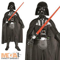 Deluxe Darth Vader Boys Star Wars Fancy Dress Halloween Kids Childrens Costume