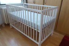 IKEA SUNDVIK Lit bébé blanc Babybedje wit 60 x 120 cm + matelas Très bon état