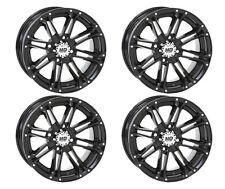 4 ATV/UTV Wheels Set 12in STI HD3 Gloss Black 4/156 4+3 POL