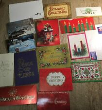 Lot Vintage Christmas Card Ephemera Altered Art Junk Journal Paper Pack #27