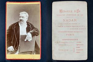 Nadar, Paris, Hippolyte de Villemessant, journaliste Vintage cdv albumen print