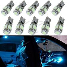 10x Ice Blue Canbus T10 5 LED 168 194 Interior Dome Map License Plate Light Bulb