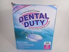 Dental Duty Fast Deep Micro Cleaning Anti-Bacterial Denture Cleanser 240 TabsEHD