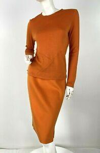 $3K Chado Ralph Rucci 6 8 US 44 IT M 2 Pc Cashmere Silk Skirt Sweater Top Runway