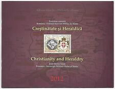 ROMANIA 2012 Folder Cristianità e Araldica congiunta con SMOM