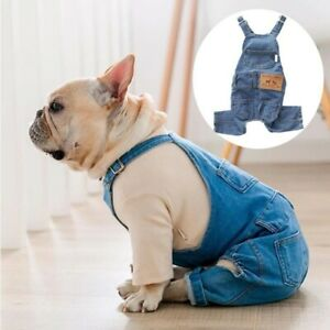 French Bulldog Clothes for Dog Clothes Denim Dog Jumpsuit