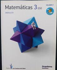 Matematicas 3º- ESO-ANDALUCIA.-VOL 2-GRAZALEMA-SANTILLANA (Libro Usado)