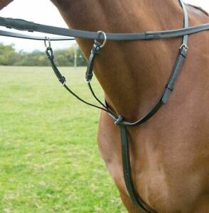 Shires Rossano Running Martingale. Black. Pony size. NEW