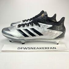 save off d458b ccd8e Adidas Adizero Afterburner 4 Men SZ 13 Silver Black Baseball Cleats BY3677