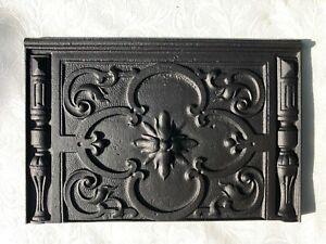 Antike Ofenplatte Gussofen Kaminplatte Etagenofen Gusseisen Relief Gründerzeit