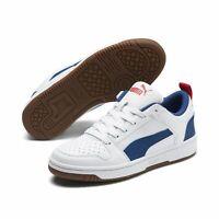 Puma Rebound Layup Lo SL JR Schuhe Sneaker 370490 White Blue Red