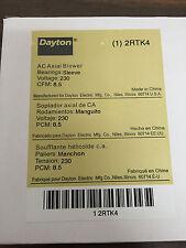Dayton 2RTK4 Axial Blower, 230VAC, 5In H, 4-3/4In W, 8.5 CFM