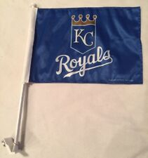 KANSAS CITY ROYALS Car Flag Banner, Two-Sided, Well Made, MLB~FREE Shipping