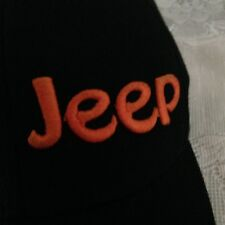 c7e9428f1a0d4 JEEP Flex Fit HAT by LIDS Black   Orange Embroidered w. CURVED BILL Size S-M