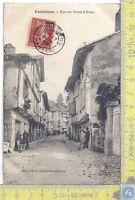 Cartolina Confolens - Rue Portes d'Ansac -Animee -  Vg France Congo B.Ita- 1909
