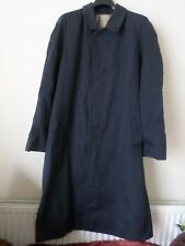 MENS Burberry Navy Blue Raincoat Coat Mac Size: 48 Reg which is S / M - READ