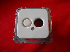 Merten Atelier Zentralplatte für BNC TNC steckverbinder weiß Neu 460574