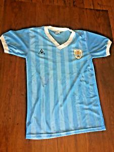 Uruguay National Team Le Coc Sportif Historical Jersey Mexico 86 Era
