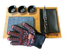 Steak Stone Set in Matt Black By Black Rock Grill Hot Stone Cooking Gift Set