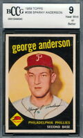 1959 Topps #338 Sparky Anderson Rookie Card Graded BCCG 9