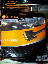 6' ALPHALINE GOLD PLATED DVI D VIDEO INTERFACE CABLE FOR MONITOR PC COMPUTER