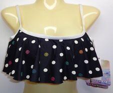 Coco Rave Size XS Small 30 32 C Cup JAIME RUFFLE BRA Black New Womens Bikini Top