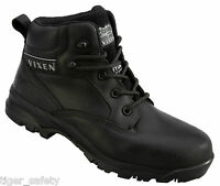 Vixen VX950A Onyx S3 Ladies Black Composite Toe Cap Safety Boots Work Boots