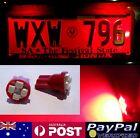 Red LED T10 Number Plate Bulbs - Ford Falcon XF EA EB ED EF EL AU BA BF FG