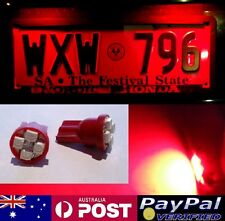 Red LED T10 Number Plate Bulbs - Mitsubishi Lancer Evo Evolution 7 8 9 10