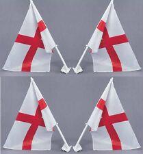 4 X St George Cruz Bandera Coche 30cm X 4cm Inglaterra Copa Del Mundo Partidarios P7571
