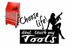 "10""X7"" DON'T TOUCH MY TOOLS VINYL DECAL WALL STICKER BOX SNAP-ON NUDE GIRL GUN"