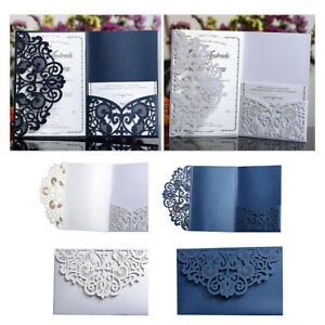 10x Laser Cut Wedding Invitation Card Cover and Paper Decor Party