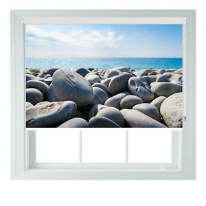 Pebble Beach Scenic Seaview Photo Printed Blackout Roller Blind Made To Measure