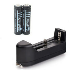 2x UltraFire 18650 6000mAh Rechargeable Li-ion Battery+26650 14500 16340 Charger