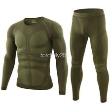 ESDY Men's Wicking Sweat Warm Compression Base Layers Underwear Top Pants Set