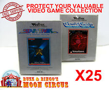 25x VECTREX CIB GAME - CLEAR PLASTIC PROTECTIVE BOX PROTECTOR SLEEVE CASE
