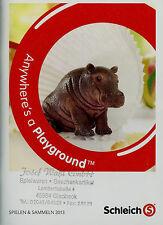 Prospetto SCHLEICH 2013 catalogo PERSONAGGI PUFFI animali elfi persone Farm Wild