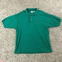 Vintage 90's Bugle Boy Men Sz XL Green Polo Shirt Golf Summer RARE
